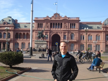 Here I am at the Casa Rosada